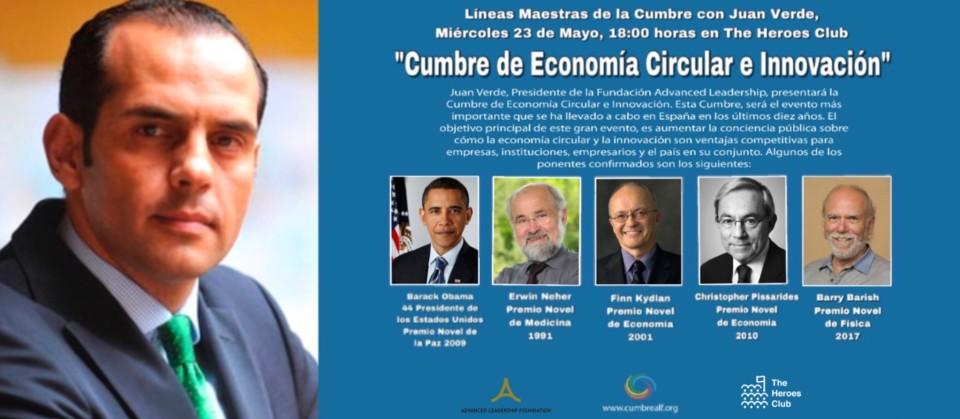 """""""Cumbre de Economía Circular e Innovación"""": Líneas Maestras con Juan Verde"""""""