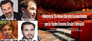 4 Mentores de The Heroes Club entre los 300 líderes seleccionados para la l Cumbre de Innovación Tecnológica y Economía Circular