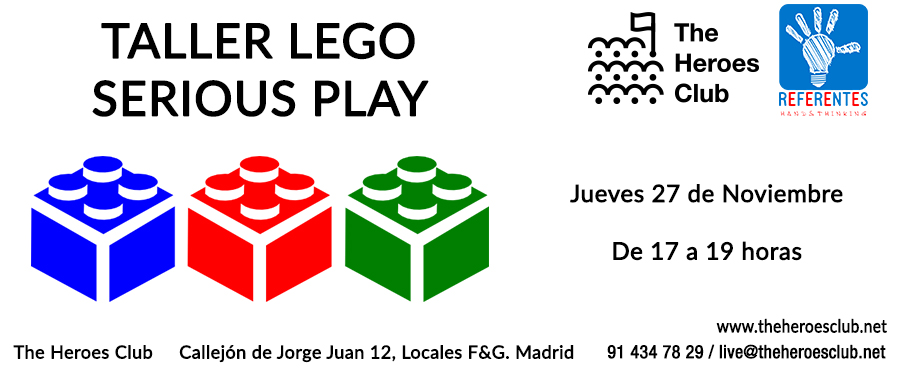 No te pierdas el Taller Lego Serious Play en The Heroes Club