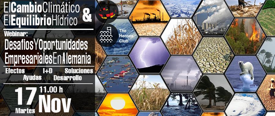 Webinar gratuito: El cambio climático y el equilibrio hídrico; Desafios y oportunidades empresariales en Alemania