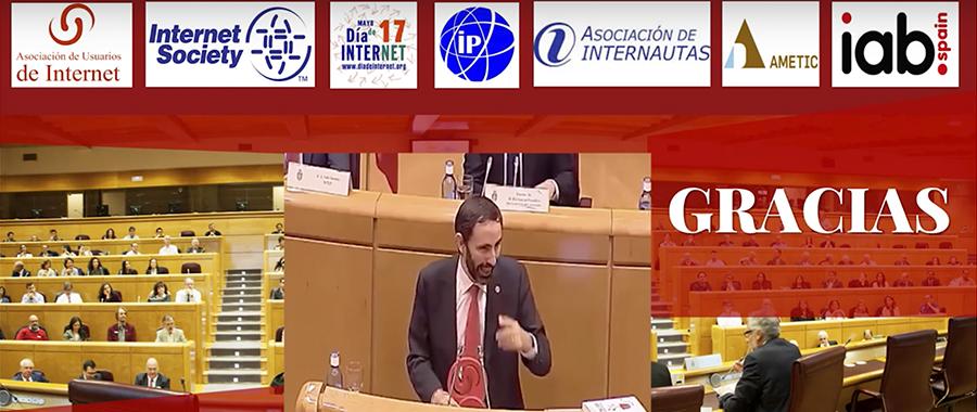 Discurso Andreu Veà trayectoria personal Senado